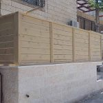 גדר לוחות עץ אורן